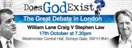 'Does God Exist?' Bill Craig debates Stephen Law