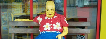 Lego statue - old man