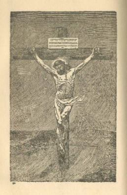 Jesus on the Cross from The Harp of God book